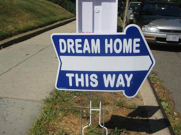 Inspect It First - Dream House This Way Signage