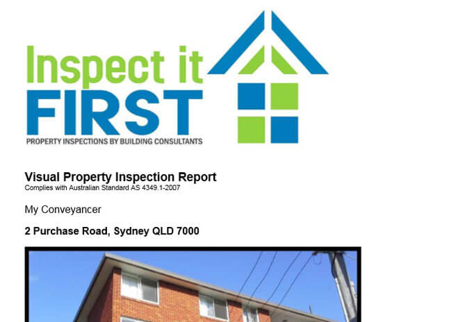 Inspect It First - PDF Image Visual Property Inspection Report