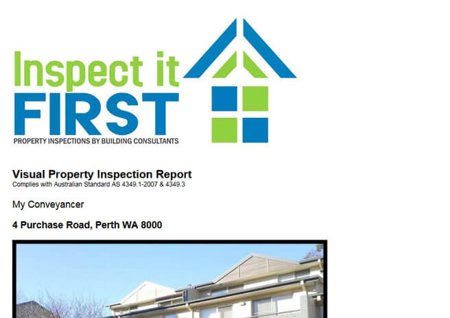 Inspect It First - Visual Property Inspection Report PDF Image